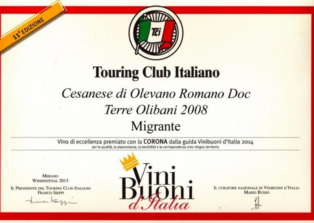 Vini Buoni d'Italia 2014 - Azienda Agricola Migrante - Cesanese di Olevano Romano