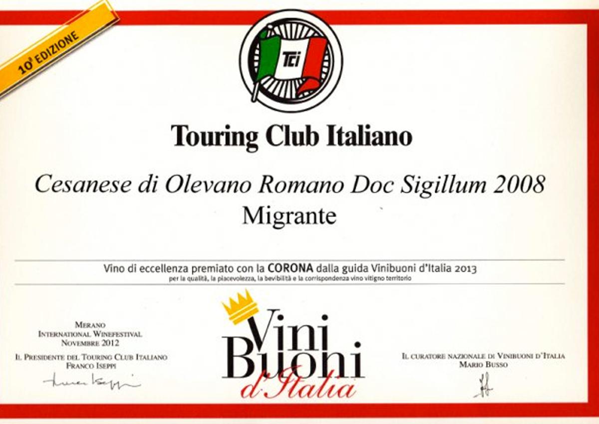 Vini Buoni d'Italia 2013 - Azienda Agricola Migrante - Cesanese di Olevano Romano